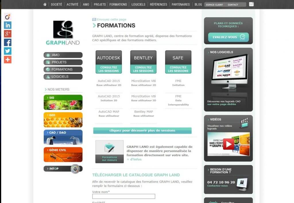 Home page formation_site web gl
