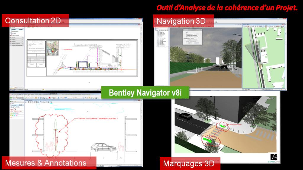 Fig.3 Consulter, annoter des projets 3D (cliquer pour agrandir)
