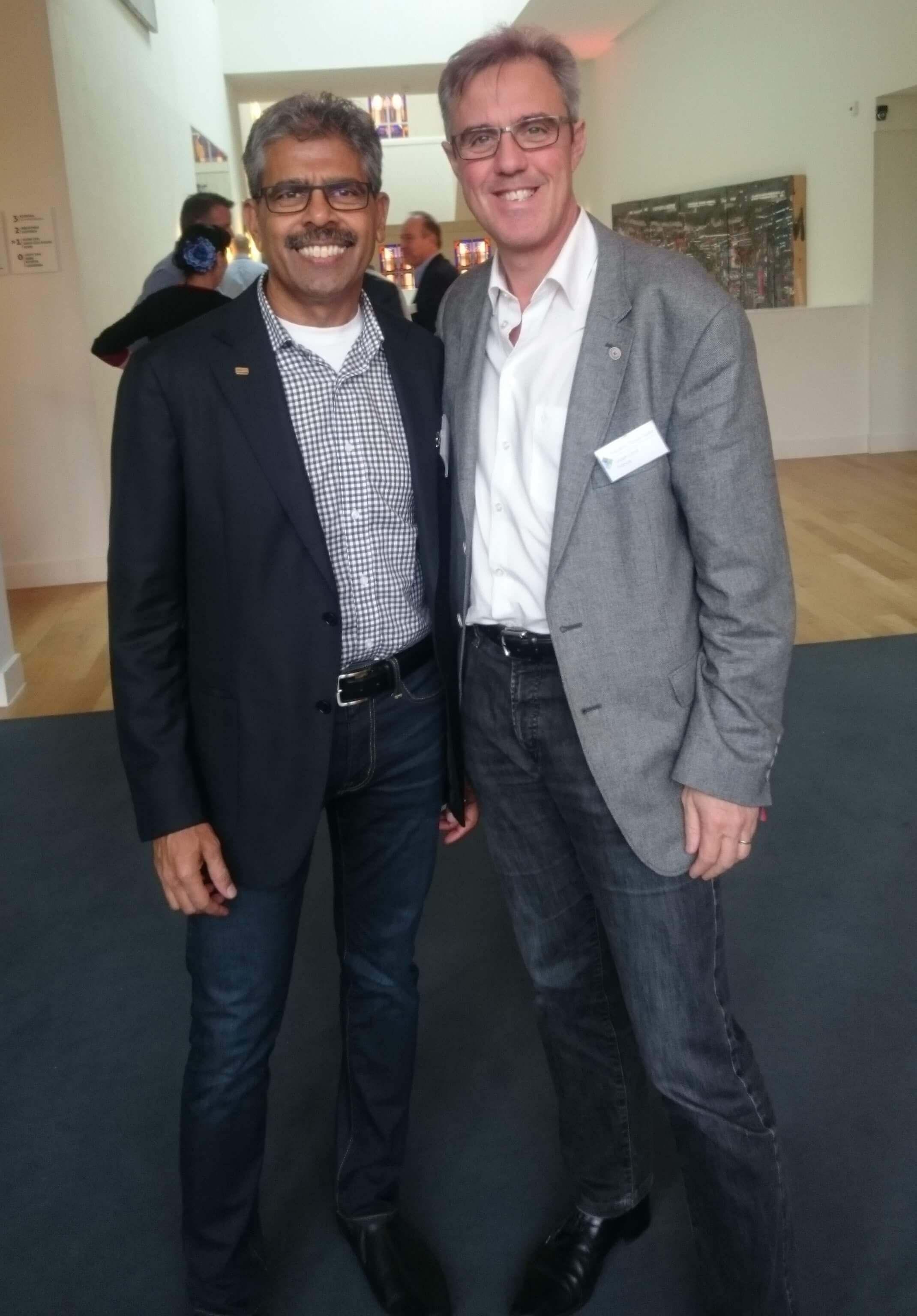 Milton Carrasco, fondateur PDG de Transoft Solutions Et Frédéric Payet-Taille, président de Graph Land