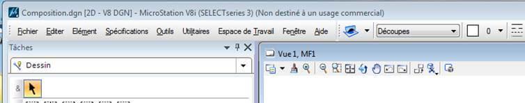 microstationV8I_ancrer barre d'outils