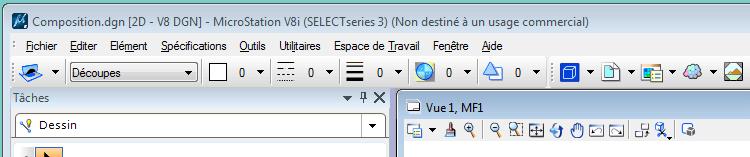 Microstation V8i Ancrer barre outils